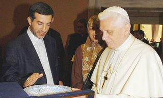 Esfandiar Rahim Mashai, former vice president of Iran, with Pope Benedict XVI