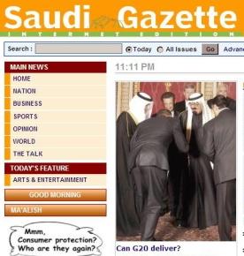 Obama Bowing to Saudi King